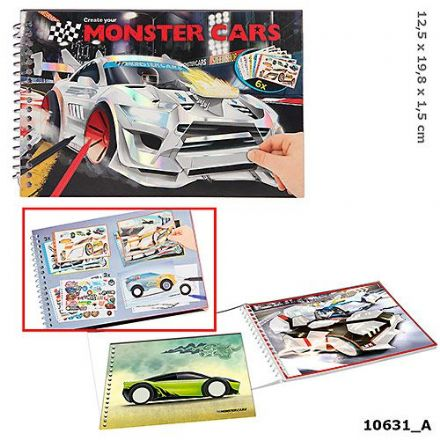 Monster Cars Pocket Colouring Book